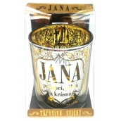 Albi Shimmering candlestick made of glass for JANA tea candle, 7 cm