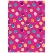 Ditipo packing papers 2pcs 70x100cm - pink colored wheels