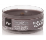 WoodWick Suede & Sandalwood - Suede sandalwood scented candle with wood wick petite 31 g