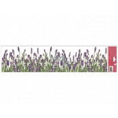 Room Decor Window foil without glue lavender stripes 64 x 15 cm