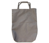 Brown striped shopping bag with a tube 42.5 x 33 x 6 cm 9940