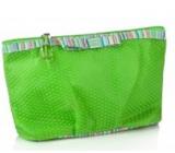 Diva & Nice Cosmetic handbag Thin Felt No.1 green 11 x 19 cm
