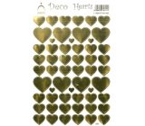 Arch Holographic decorative stickers gold hearts
