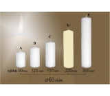 Lima Candle smooth ivory cylinder 60 x 220 mm 1 piece