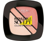 Loreal Paris Infallible Sculpt Blush Trio tvářenka 201 Soft Rossy 3,8 g