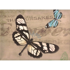 Nekupto Gift kraft bag 32.5 x 26 x 13 cm Butterflies 326 CL