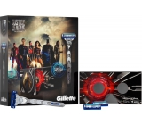 Gillette Mach3 Turbo Justice League Men's Shaver + Spare Heads 2pcs + VR Headset, cosmetic set