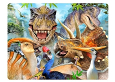 3D Postcard - Dino Selfie 16 x 12 cm