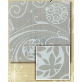 Nekupto Gift wrapping paper 70 x 200 cm Christmas Silver, flask