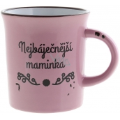 "Albi Ceramic mug with the inscription ""The Greatest Mother"", pink 320 ml"