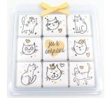 Nekupto Chocolate Puzzle Valentine's Day Cats 9 x 5 g WQ 012