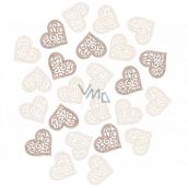 Wooden hearts 2 cm, 24 pieces
