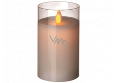 Emos LED candle lit amber, 7.5 x 12.5 cm