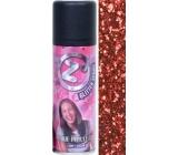Zo Cool Glitter Spray glitry na vlasy a tělo Red 125 ml