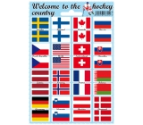 Arch Welcome to the hockey country stickers and tattoos of the flags of the states 12 x 17 cm 1 piece