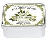 Le blanc Jasmine - Jasmín přírodní mýdlo tuhé v krabičce 100 g