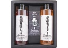 Bohemia Gifts & Cosmetics Boho Style & Gentleman Beer Yeast & Hops Extract Shower Gel 250 ml + Toilet soap 145g + 250 ml men's shampoo, men's cosmetic set