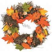 Wicker autumn wreath 41 cm