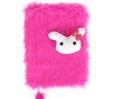 Albi Hairy block Bunny 16 cm x 22 cm