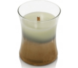 WoodWick Floral Nights Fig Leaf & Tuberose - Fig leaves and tuberose scented candle with wooden wick and lid glass medium 275 g Limited 2019