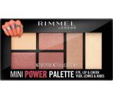 Rimmel London Mini Power Palette eyeshadow, lips and face palette 006 Fierce 6.8 g