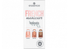 Essence French Manicure Stencils nail templates 01 Walk The Line 60 pieces