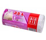 Alufix Trash bags with handles white, 10 µ, 35 liters, 53 x 60 x 16 cm, 25 pieces