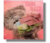 Me to You Blahopřání do obálky 3D Všechno nejlepší Medvěd s kytkou a dárkem 15,5 x 15,5 cm