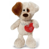 Nici Love You Dog Plush toy the finest plush 25 cm