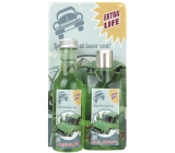 Bohemia Gifts & Cosmetics Konopný olej Sprchový gel 200 ml + Koupelová lázeň 200 ml + Obrázek Auto. Longer life at lower cost 13 x 24 cm, kosmetická sada