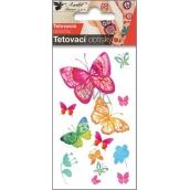 Tattoo decals Butterflies watermark 10.5 x 6 cm