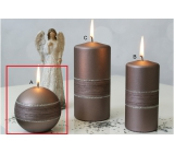 Lima Sparkling candle light brown ball 80 mm