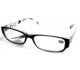 Glasses dioplast. + 1,5 black side with rectangles MC2084