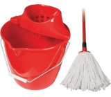Spokar Cleaning set bucket, wringer, mop 160 g Red 1 set
