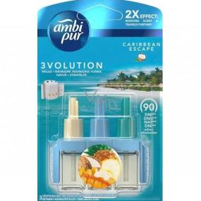 Ambi Pur 3 Volution Caribbean Escape 2x Effect electric air freshener refill 3 x 20 ml