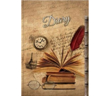 Ditipo Diary Nostalgia books, glasses, watch B5 17 x 24 cm