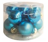Blue glass flasks set 2.5 cm, 12 pieces