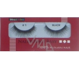 Diva & Nice False eyelashes 100% Human Hair No. 1 black 1 pair