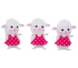 White sheep in a box of 6 cm 3 pieces