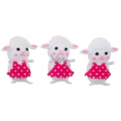 White sheep in box 6 cm 3 pieces