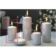 Lima CANDLE cylinder Ice silver 60 x 90 mm