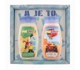 Bohemia Gifts Kids Pat and Mat - Mechanics Strawberry shower gel 250 ml + hair shampoo 250 ml, for children cosmetic set