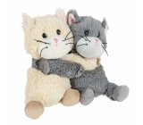 Albi Warm plush Warm cats in pair Height: approx. 18 cm