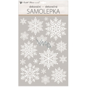 Room Decor Window foil without glue white flakes with glitter 30 x 50 cm