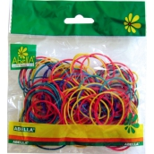 Abella Rubber bands colored different colors 150 pieces, 30 g