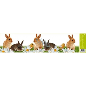 Room Decor Window foil without glue stripe Easter animals stripe-rabbits