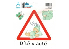 Arch Car sticker Child in car toddler baby boy 15 x 17 cm
