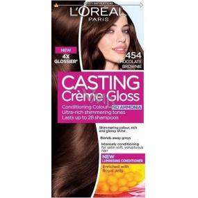 Loreal Paris Casting Creme Gloss hair color 454 brownie