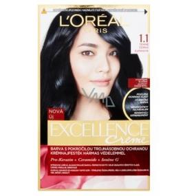 Loreal Paris Excellence Creme hair color 1.1 Dark black
