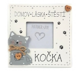 Nekupto Mazlíčci Dřevěná cedulka Domov láska štěstí - kočka 14 x 14 cm